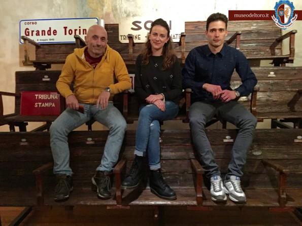 Domenico Beccaria con Federica D'apice e Andrea Conforti della classe III B dell'istituto IIS Majorana-Marro, sezione Tecnico-economica