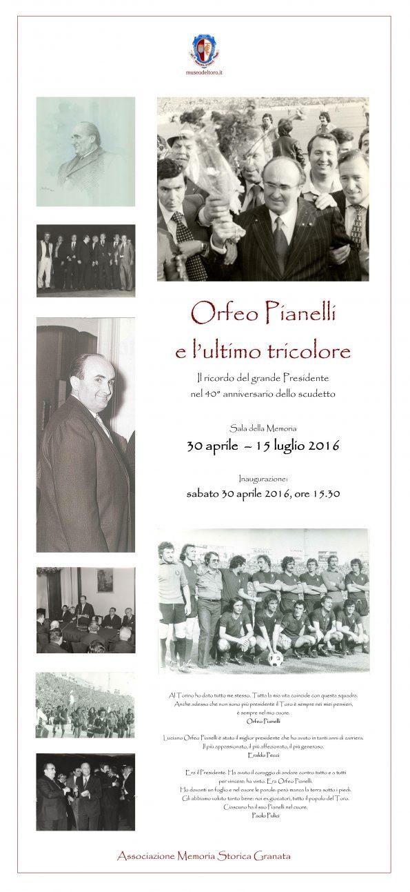Locandina mostra Pianelli e ultimo scudetto