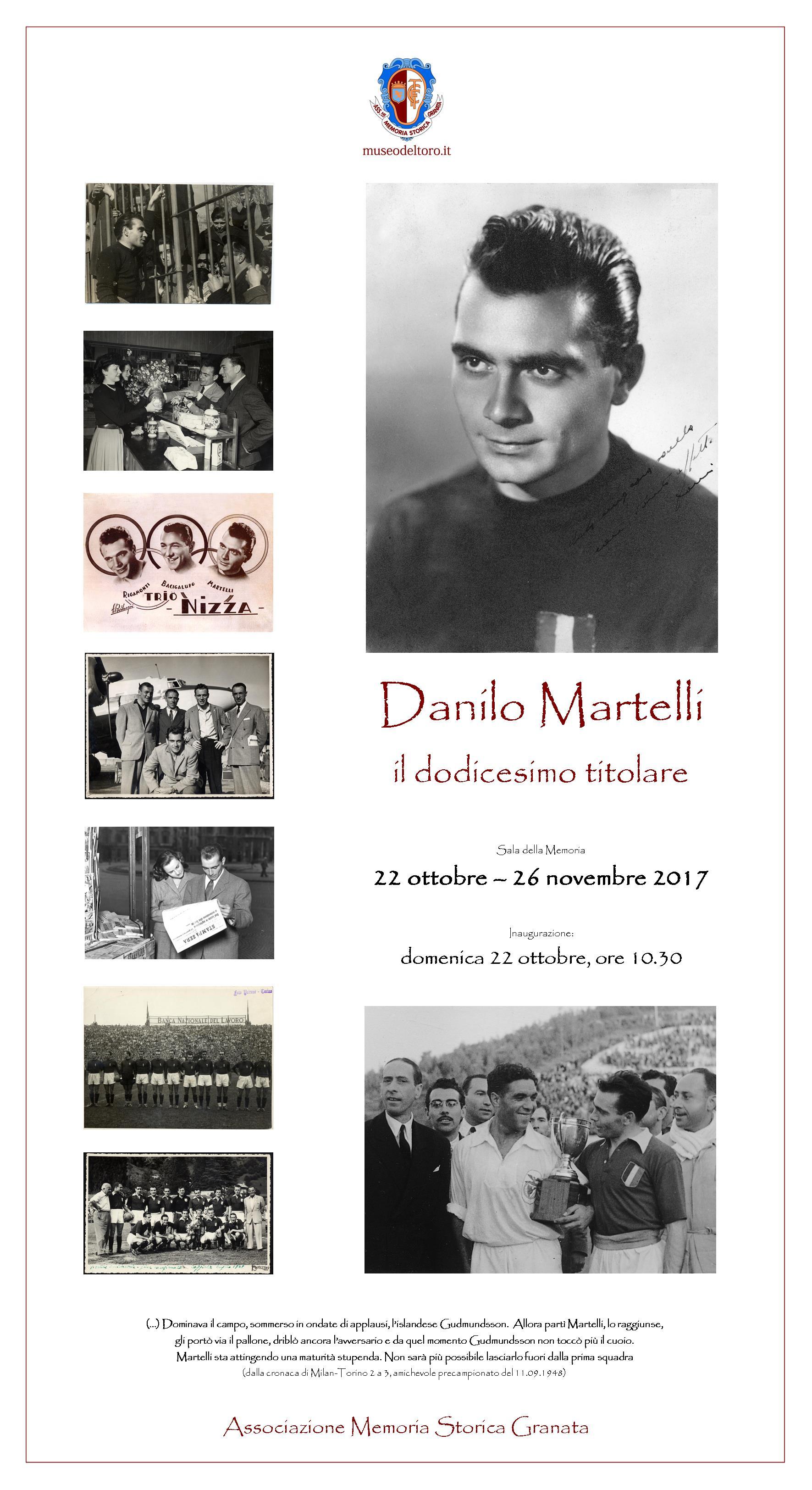 """PRESENTAZIONE MOSTRA TEMPORANEA """"DANILO MARTELLI, IL 12° TITOLARE"""""""