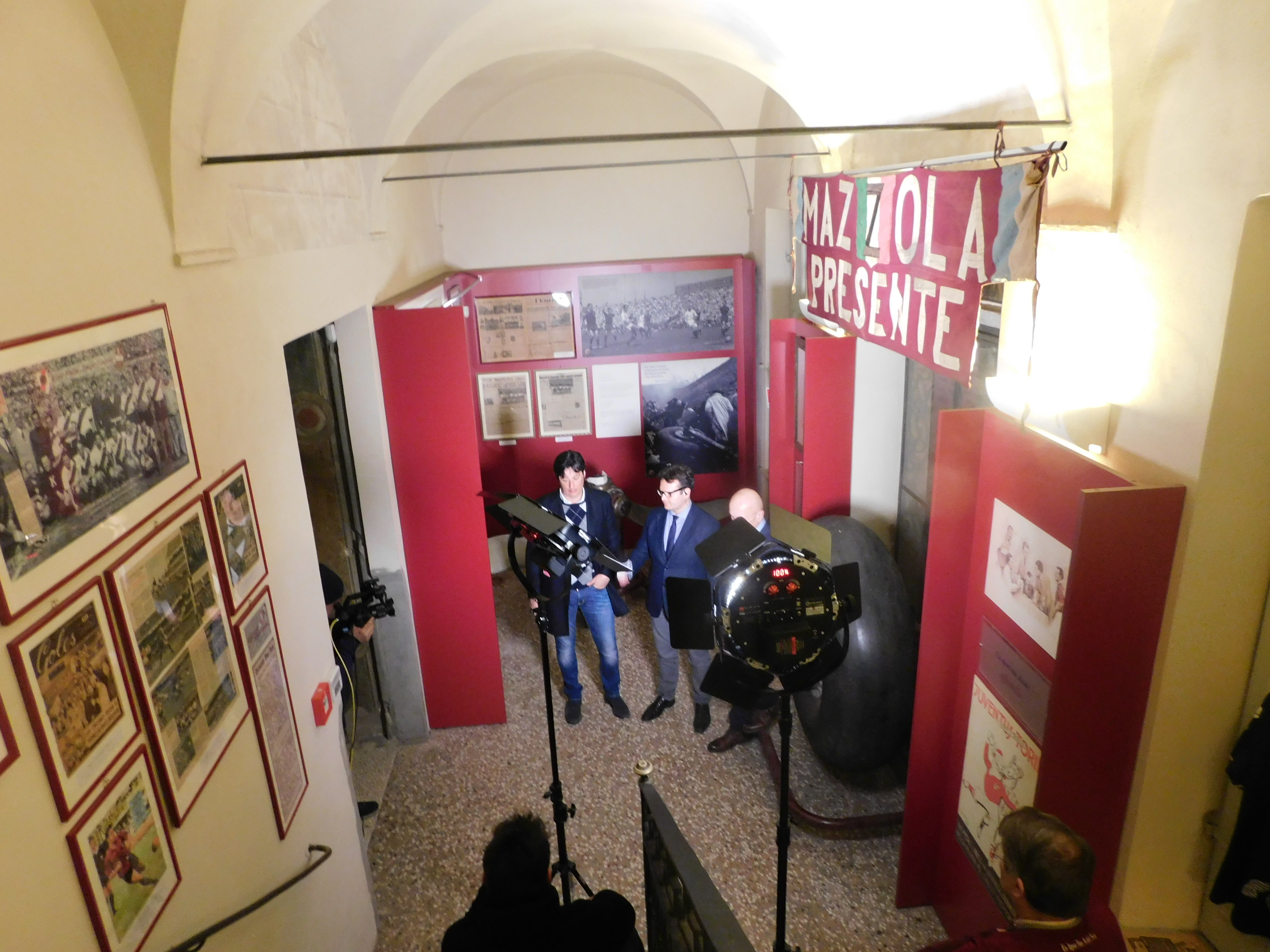 RAI 3 AL MUSEO PER RACCONTARE VALENTINO MAZZOLA